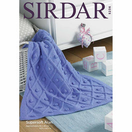 Blanket in Sirdar Supersoft Aran - Digital Version
