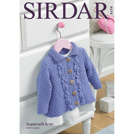Baby / Girl's A Line Jacket in Sirdar Supersoft Aran - Digital Version