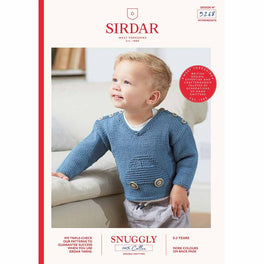 Car Jumper in Sirdar Snuggly 100% Cotton DK