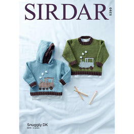 Round Neck and Hooded Sweater in Sirdar Snuggly Dk