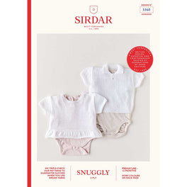 Vests in Sirdar Snuggly 2ply 5360 - Digital Version