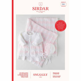 Coat, Bonnet & Blanket in Sirdar Snuggly 3ply 5361 - Digital Version