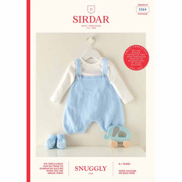 Romper and Bootees in Sirdar Snuggly 3ply 5364 - Digital Version