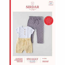 Shorts and Leggings in Sirdar Snuggly 100% Cotton