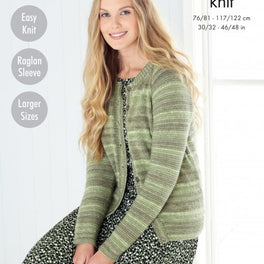Sweater and Cardigan in King Cole Island Beaches Dk