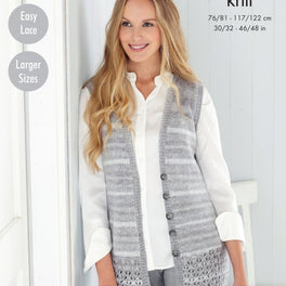 Cardigan and Waistcoat in King Cole Island Beaches Dk