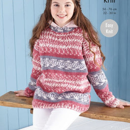 Sweater and Hoodie in King Cole Fjord Dk