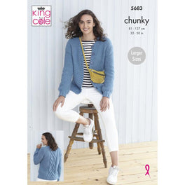 Cardigans in King Cole Subtle Drifter Chunky