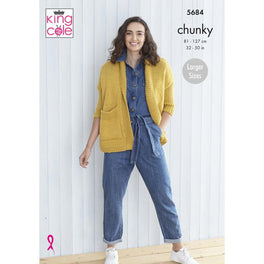 Ladies Cardigans in King Cole Subtle Drifter Chunky