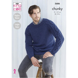 Mens Sweaters in King Cole Subtle Drifter Chunky