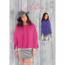 Ponchos in Sublime Lola Super Chunky - Digital Version