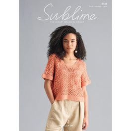 V-Neck Top in Sublime Isabella DK 6133