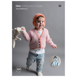 Cardigan and Hats in Rico Creative Soft Wool Aran