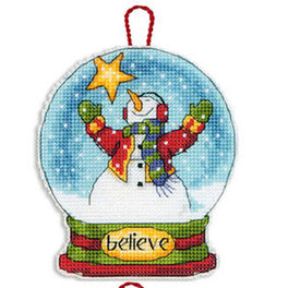 Believe Snow Globe Ornament