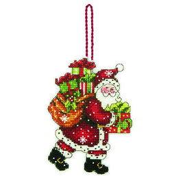Santa with Bag Ornament