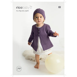Cardigan and Hat in Rico Baby Cotton Soft Dk