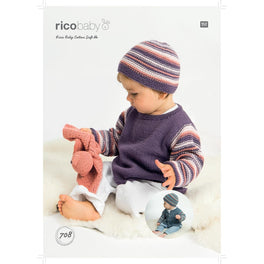 Sweater Cardigan and Hat in Rico Baby Cotton Soft Dk - Digital Version