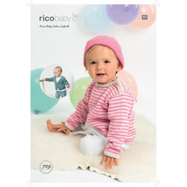 Cardigan, Sweater and Hat in Rico Baby Cotton Soft Dk