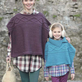 Childrens and Ladies Ponchos in Hayfield Bonus Aran - Digital Version