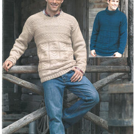 Mens Sweaters in Hayfield Bonus Aran - Digital Version