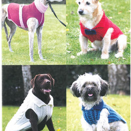 Dogs Coats in Hayfield Aran with Wool and Sirdar Snuggly Snowflake Chunky