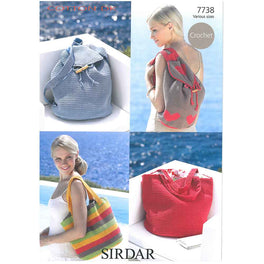 Bags Crocheted in Sirdar Cotton DK - Digital Version