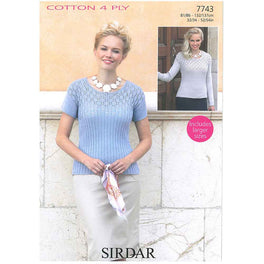 Tops in Sirdar cotton 4ply - Digital Version