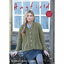 Swing Coat in Hayfield Bonus Aran Tweed - Digital Version