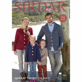 Cardigans in Sirdar Harrap Tweed Chunky