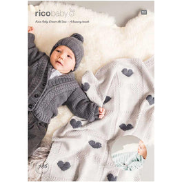 Rico Baby Blankets Knitting Pattern in Baby Dream Uni DK  - Digital Version