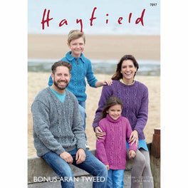 Sweaters in Hayfield Bonus Aran Tweed - Digital Version