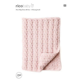 Rico Baby Blankets Crochet Pattern in Baby Dream Uni DK  - Digital Version