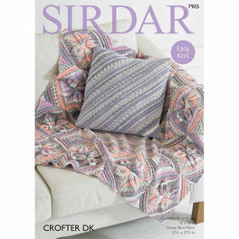 Throw and Cushion Cover in Sirdar Crofter DK - Digital Version