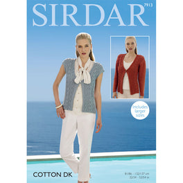 Cardigan and Waistcoat in Sirdar Cotton Dk