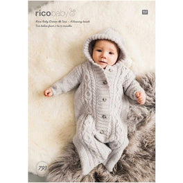 Rico Babies Sleeping Bag Knitting Pattern in Baby Dream Uni DK - Digital Version