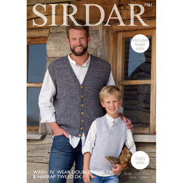 Waistcoat & Tank in Sirdar Harrap Tweed DK and Wash 'n' Wear DK - Digital Version