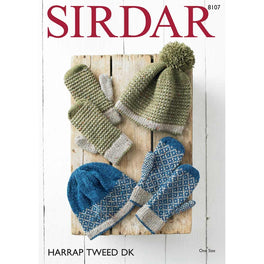 Pull on Hats and Mittens in Sirdar Harrap Tweed DK - Digital Version
