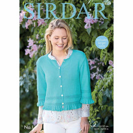 Cardigan with  Sleeves in Sirdar No1