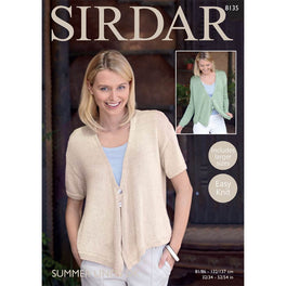 Cardigan with draped fronts in Sirdar Summer Linen Dk - Digital Version