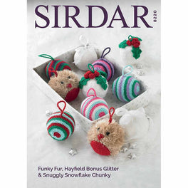 Christmas Decorations in Sirdar Snuggly Snowflake Chunky and Funky Fur - Digital Version