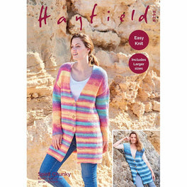 Waistcoat and Jacket in Hayfield Spirit Chunky - Digital Version