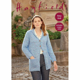 Woman's Long Line Coat in Hayfield Journey DK  - Digital Version