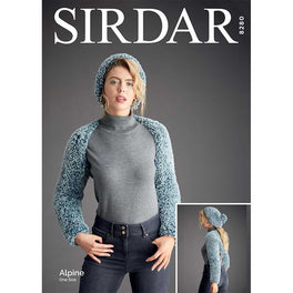 Sleeve Shrug and Pull on Hat in Sirdar Alpine - Digital Version