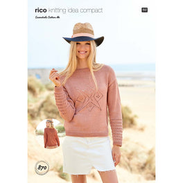 Cardigan and Sweater in Rico Essentials Cotton Dk