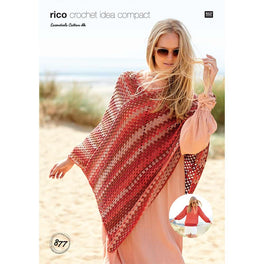 Sweater and Poncho in Rico Essentials Cotton Dk - Digital Version