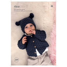 Jacket and Hat in Rico Baby Cotton Soft Dk - Digital Version