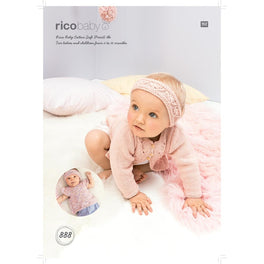 Cardigan Top and Headband in Rico Baby Cotton Soft Dk