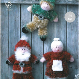 Christmas Toys knitted in King Cole Tinsel Chunky