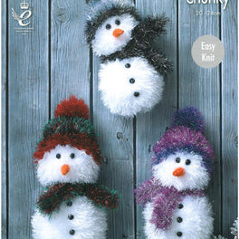 Snowmen in King Cole Tinsel Chunky
