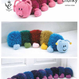 Tinsel Centipedes in King Cole Tinsel Chunky